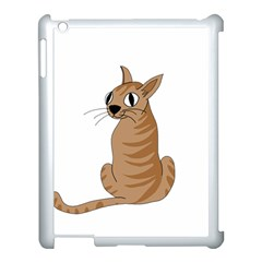 Brown Cat Apple Ipad 3/4 Case (white) by Valentinaart