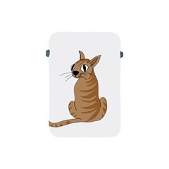Brown Cat Apple Ipad Mini Protective Soft Cases by Valentinaart