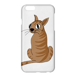 Brown Cat Apple Iphone 6 Plus/6s Plus Hardshell Case by Valentinaart