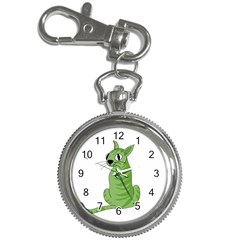 Green Cat Key Chain Watches by Valentinaart