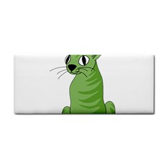 Green Cat Cosmetic Storage Cases by Valentinaart