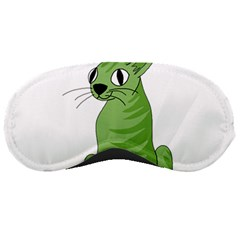 Green Cat Sleeping Masks by Valentinaart