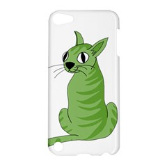 Green Cat Apple Ipod Touch 5 Hardshell Case