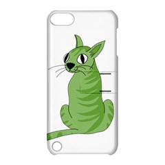 Green Cat Apple Ipod Touch 5 Hardshell Case With Stand by Valentinaart