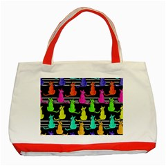 Colorful Cats Pattern Classic Tote Bag (red) by Valentinaart