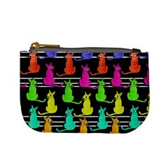 Colorful Cats Pattern Mini Coin Purses