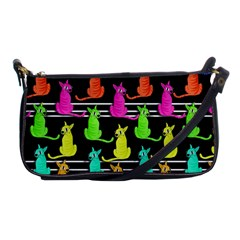 Colorful Cats Pattern Shoulder Clutch Bags
