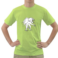Monster Bird Drawing Green T-shirt by dflcprints