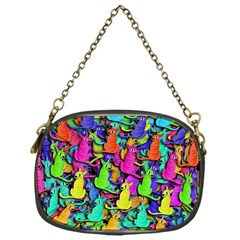 Colorful Cats Chain Purses (one Side)  by Valentinaart