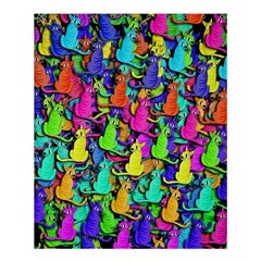 Colorful Cats Shower Curtain 60  X 72  (medium)  by Valentinaart
