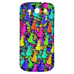 Colorful Cats Samsung Galaxy S3 S Iii Classic Hardshell Back Case by Valentinaart