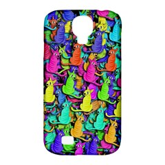 Colorful Cats Samsung Galaxy S4 Classic Hardshell Case (pc+silicone) by Valentinaart