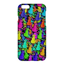 Colorful Cats Apple Iphone 6 Plus/6s Plus Hardshell Case by Valentinaart