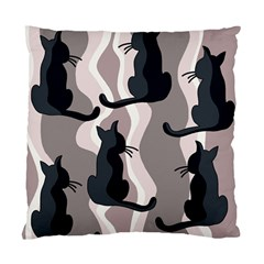 Elegant Cats Standard Cushion Case (two Sides) by Valentinaart