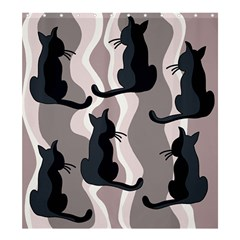 Elegant Cats Shower Curtain 66  X 72  (large)  by Valentinaart