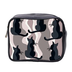 Elegant Cats Mini Toiletries Bag 2 Side by Valentinaart