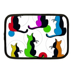 Colorful Abstract Cats Netbook Case (medium)  by Valentinaart