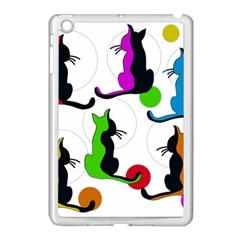 Colorful Abstract Cats Apple Ipad Mini Case (white) by Valentinaart