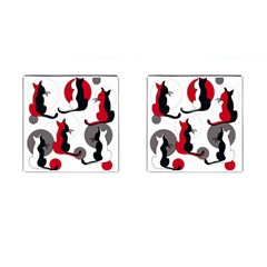 Elegant Abstract Cats  Cufflinks (square) by Valentinaart