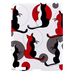 Elegant Abstract Cats  Apple Ipad 3/4 Hardshell Case by Valentinaart