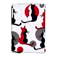 Elegant Abstract Cats  Apple Ipad Mini Hardshell Case (compatible With Smart Cover) by Valentinaart