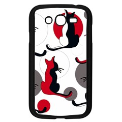 Elegant Abstract Cats  Samsung Galaxy Grand Duos I9082 Case (black) by Valentinaart