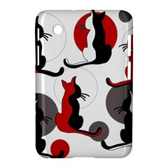 Elegant Abstract Cats  Samsung Galaxy Tab 2 (7 ) P3100 Hardshell Case  by Valentinaart