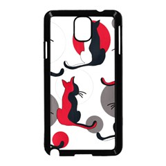 Elegant Abstract Cats  Samsung Galaxy Note 3 Neo Hardshell Case (black)