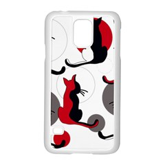Elegant Abstract Cats  Samsung Galaxy S5 Case (white) by Valentinaart