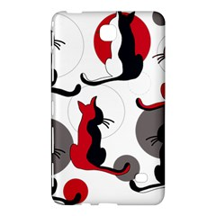 Elegant Abstract Cats  Samsung Galaxy Tab 4 (7 ) Hardshell Case  by Valentinaart