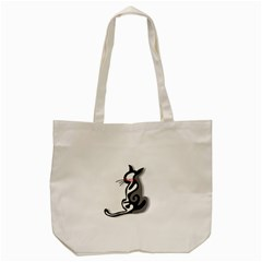Elegant Abstract Cat  Tote Bag (cream) by Valentinaart