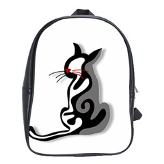 Elegant Abstract Cat  School Bags(large)  by Valentinaart