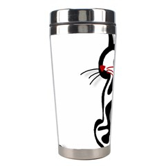 Elegant Abstract Cat  Stainless Steel Travel Tumblers by Valentinaart