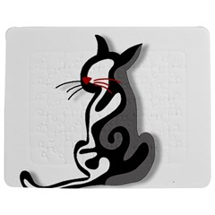 Elegant Abstract Cat  Jigsaw Puzzle Photo Stand (rectangular) by Valentinaart