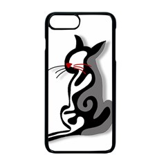 Elegant Abstract Cat  Apple Iphone 7 Plus Seamless Case (black) by Valentinaart