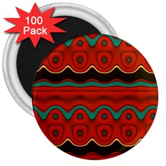 Orange Black And Blue Pattern 3  Magnets (100 Pack) by digitaldivadesigns
