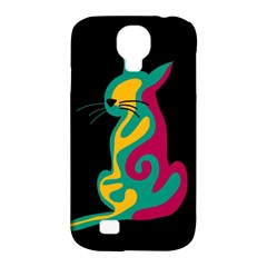 Colorful Abstract Cat  Samsung Galaxy S4 Classic Hardshell Case (pc+silicone) by Valentinaart