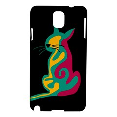 Colorful Abstract Cat  Samsung Galaxy Note 3 N9005 Hardshell Case by Valentinaart