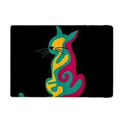 Colorful Abstract Cat  Ipad Mini 2 Flip Cases by Valentinaart