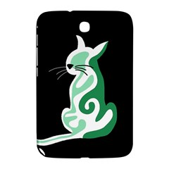 Green Abstract Cat  Samsung Galaxy Note 8 0 N5100 Hardshell Case  by Valentinaart