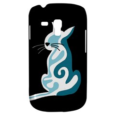 Blue Abstract Cat Galaxy S3 Mini by Valentinaart
