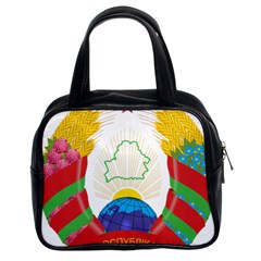 Coat Of Arms Of The Republic Of Belarus Classic Handbags (2 Sides) by abbeyz71