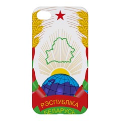 Coat Of Arms Of The Republic Of Belarus Apple Iphone 4/4s Hardshell Case