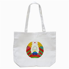 Coat Of Arms Of The Republic Of Belarus Tote Bag (white) by abbeyz71