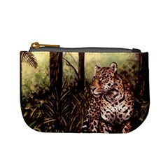 Jaguar In The Jungle Mini Coin Purses by ArtByThree