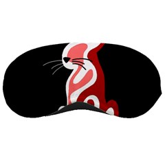 Red Abstract Cat Sleeping Masks by Valentinaart