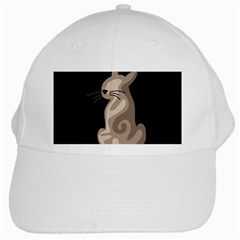 Brown Abstract Cat White Cap by Valentinaart