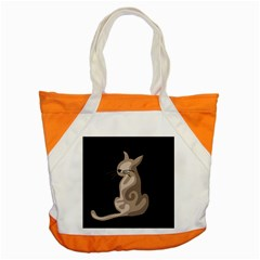 Brown Abstract Cat Accent Tote Bag