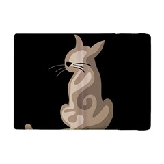 Brown Abstract Cat Apple Ipad Mini Flip Case by Valentinaart