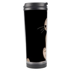 Brown Abstract Cat Travel Tumbler by Valentinaart